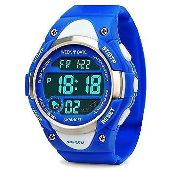 Boys Girls Sport Digital Waterproof Watch for Kids