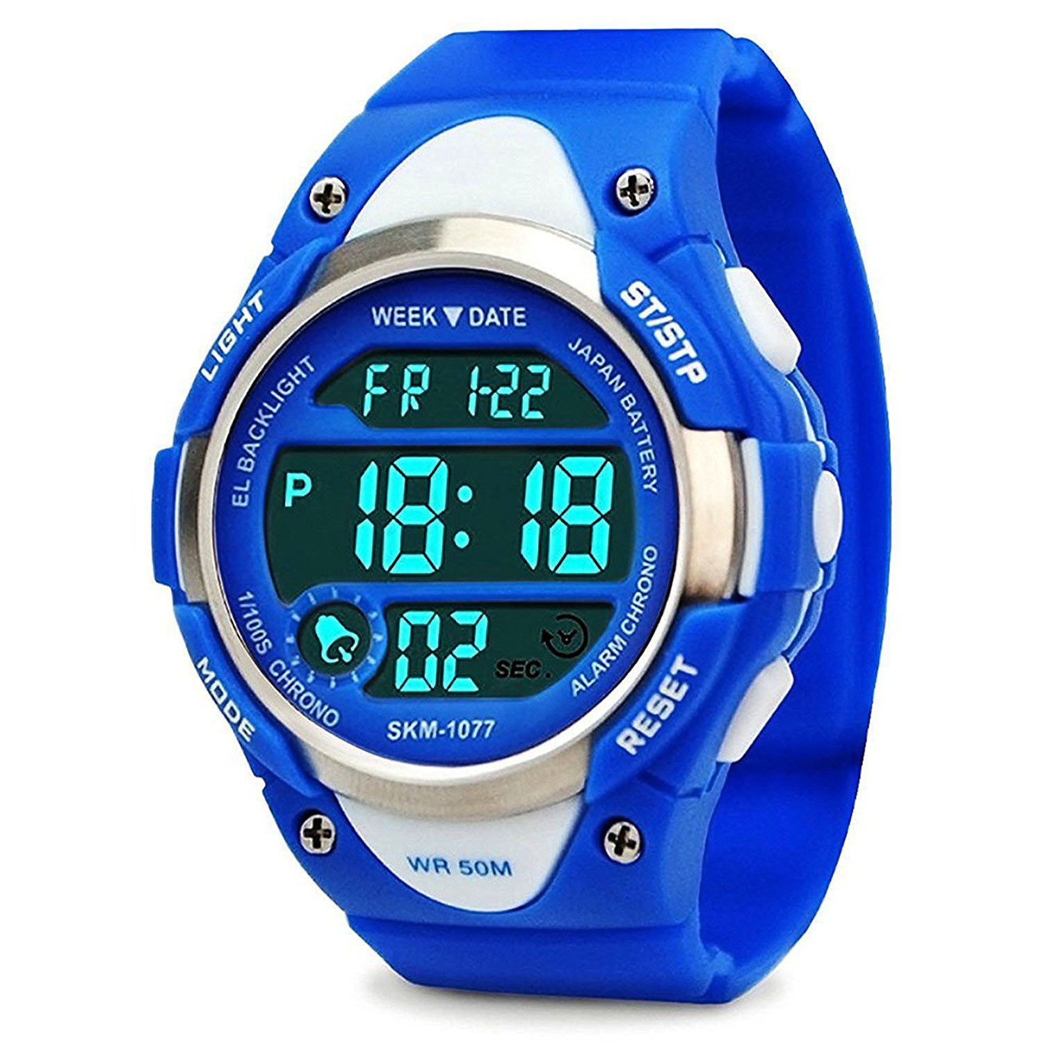 Boys Sport Digital Watch, Kids Outdoor Waterproof Electronic Watches with LED Alarm Stopwatch - Blue by cofuo (Image #1)