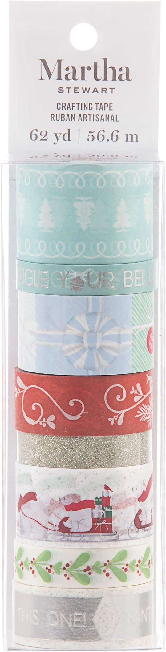 Martha Stewart 30068352 Washi Tape-Presents /& Polar Bears Assorted