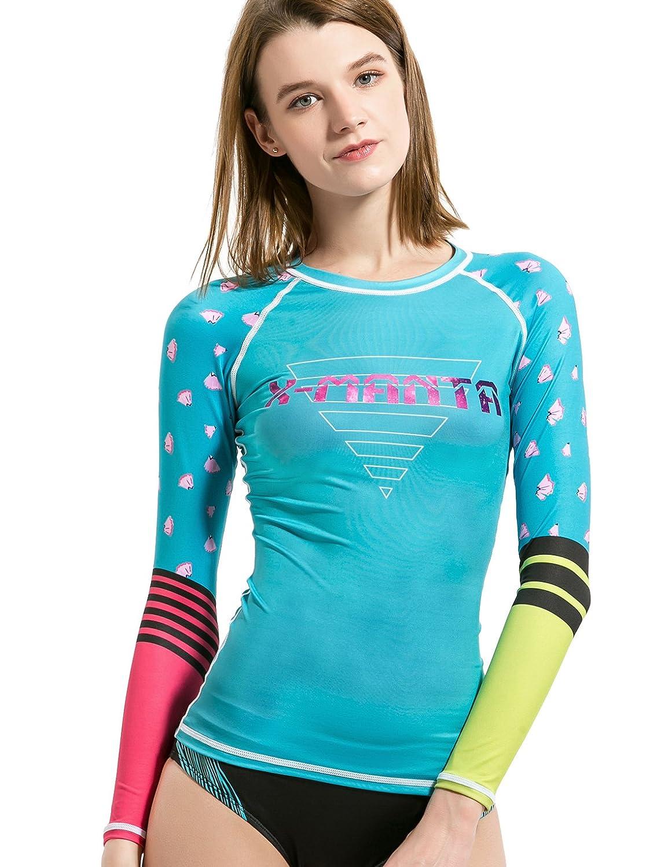 Surfラッシュガードレディース、Dive & Sail長袖サーフTeeラッシュガードシャツUPF 50 + Fast Dry Sunblockシャツ 6 ブルー B07174QBBZ