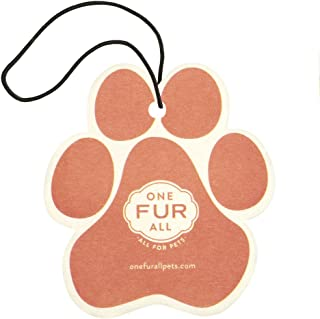 product image for One Fur All Pet House Car Air Freshener, Pack of 4 – Mango Peach - Non-Toxic Auto Air Freshener, Pet Odor Eliminating Air Freshener for Car, Ideal for Small Spaces, Dye Free Dog Car Air Freshener