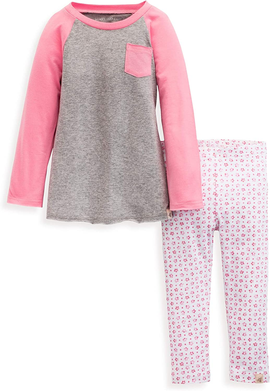 Burt's Bees Baby - Baby Girls Top and Pant Set, Tunic and Leggings Bundle, 100% Organic Cotton