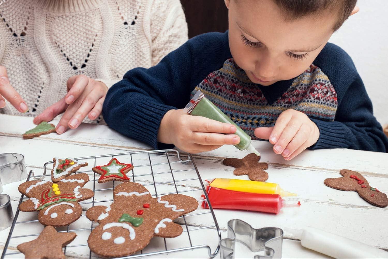 acero inoxidable molde Sugarcraft para galletas Cookie Cake Pasteler/ía Hornear Cortador Molde Herramientas de reposter/ía herramientas 5 unidades Copo de nieve molde de galletas