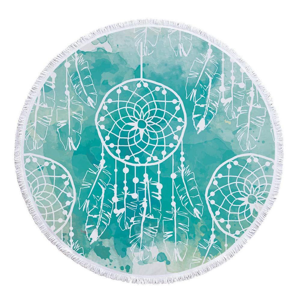 Amazon.com : W.ILGF Yoga Mat Mandala Tassel Tapestry Round ...