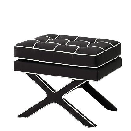Amazon.com: Black & White Ottoman | Eichholtz Cordoba ...