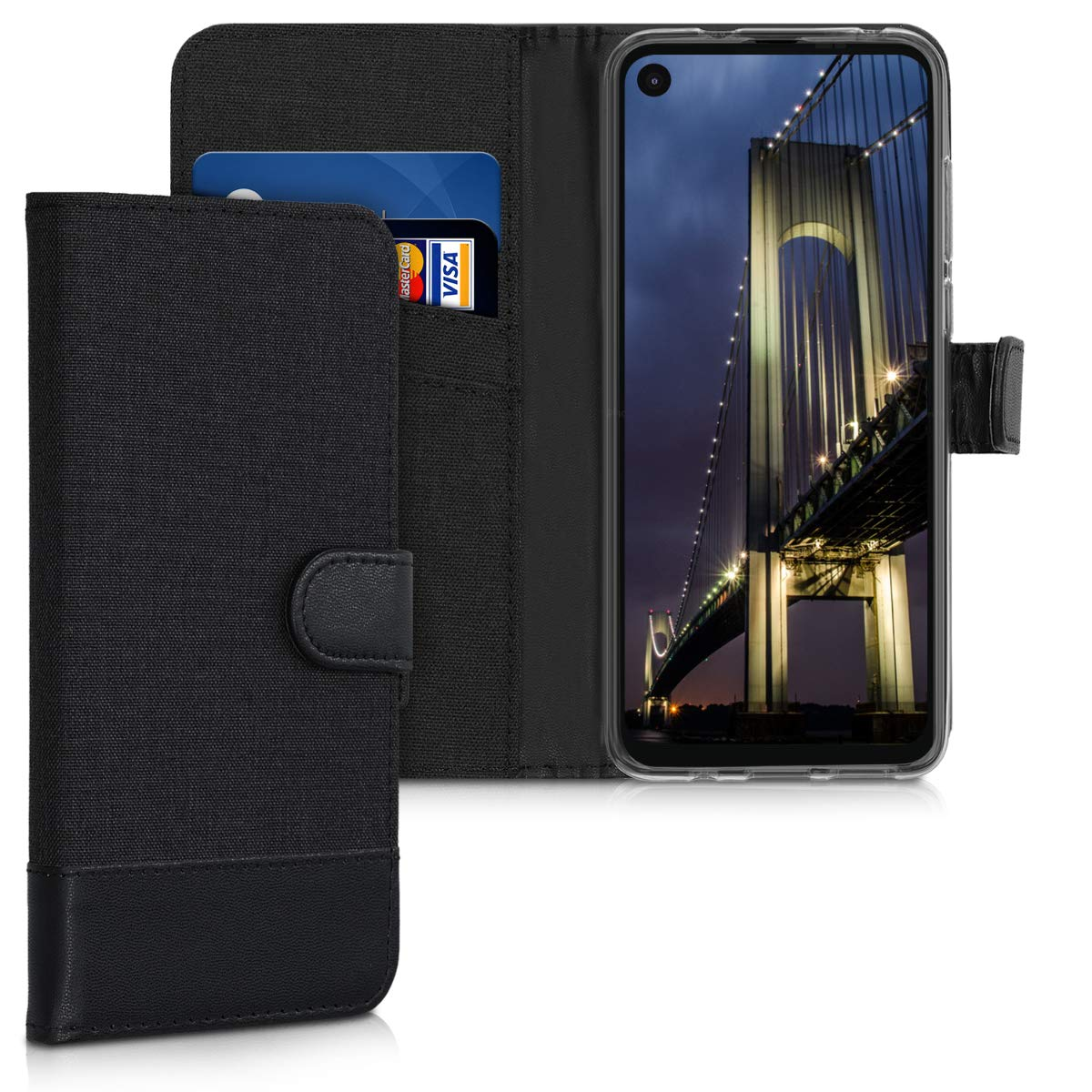 funda estilo billetera para motorola one action