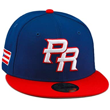 c2c0e0881f6d71 New Era 59FIFTY 2017 WBC PR Fitted Hat Cap Royal/Red/Puerto Rico ...