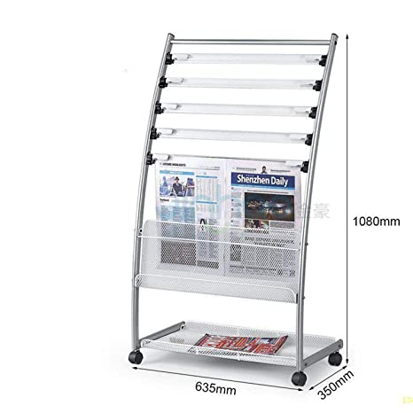 5 Tier Silver Rack A4 Document Holder Home Office Organizer Wall Mounted Display