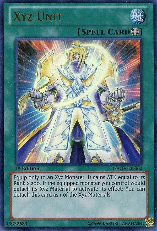 Near Mint GAOV-EN062 Unlimited Edition Yugioh XYZ Unit Ultimate Rare