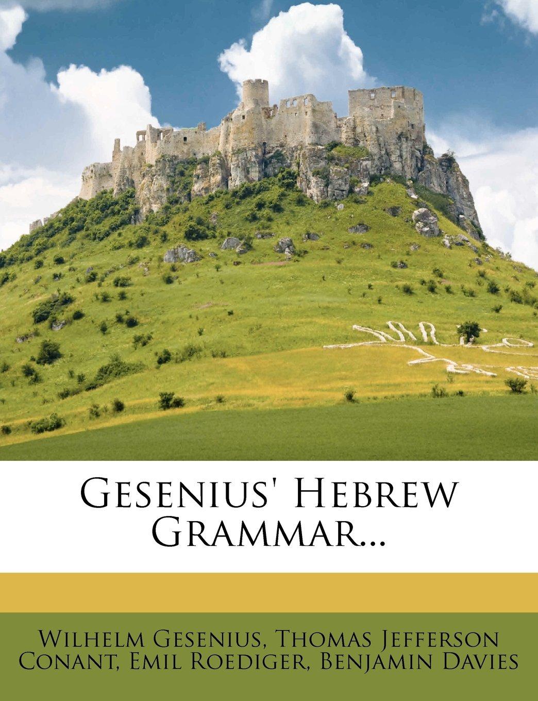 Download Gesenius' Hebrew Grammar... pdf epub