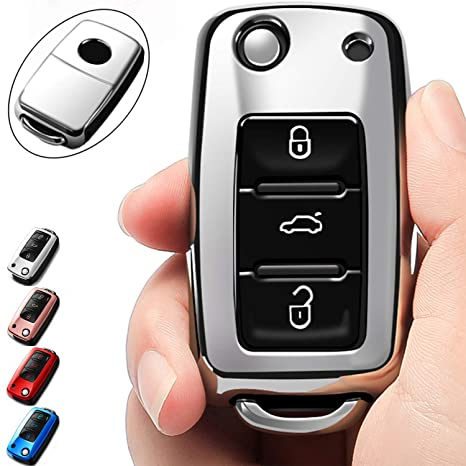 Amazon.com: Funda para llave de VW Volkswagen Jetta Passat ...