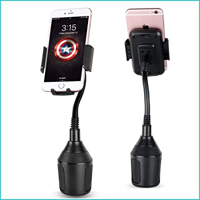 """Byasef Cup Phone Holder for Car - Universal Cup Holder Phone Mount for iPhone & Android Smartphone - Adjustable 12"""" Extension Gooseneck Cupholder Cellphone Cradle - Secure Auto Cell Phone Holder"""