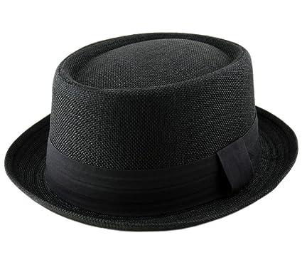 0b2fc1af Adult Pork Pie Trilby Fedora Jute Hessian Feel Hat Band Unisex (Breaking  Bad Heisenberg Style): Amazon.co.uk: Clothing