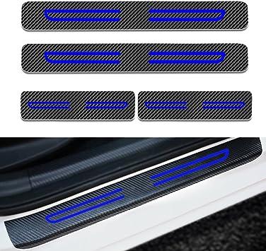 for Subaru WRX Door Sill Protector Carbon Fiber Sticker Door Entry Guard Door Sill Scuff Plate Stickers Auto Accessories 4pcs