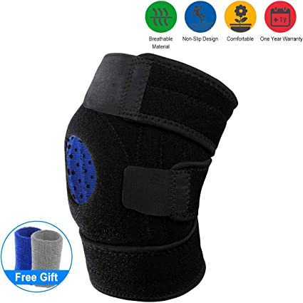 Knee Brace Support Meniscus Tear Arthritis Adjustable Compression for ACL Fitne