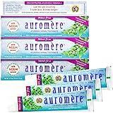 Auromere Ayurvedic Herbal Toothpaste, Mint Free - Vegan, Natural, Non GMO, Fluoride Free, Gluten Free, with Neem & Peelu (4.1