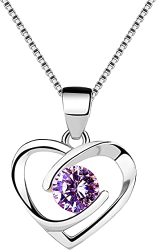 STERLING SILVER MIMI HEART WITH FLOWER CHARM WITH SINGAPORE CHAIN NECKLACE