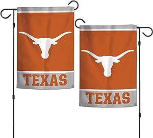 "WinCraft NCAA Texas Longhorns 12.5"" x 18"" Inch 2-Sided Garden Flag Logo"