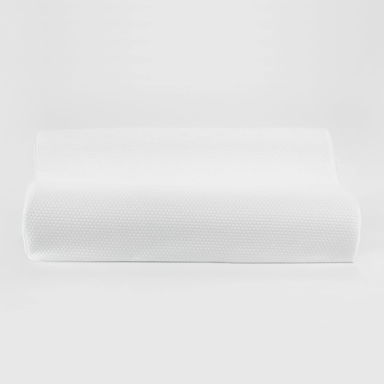 SensorPEDIC Classic Contour de Espuma con Efecto Memoria Almohada Cervical con tecnología de ventilación iCool estándar, Color Blanco: Amazon.es: Hogar