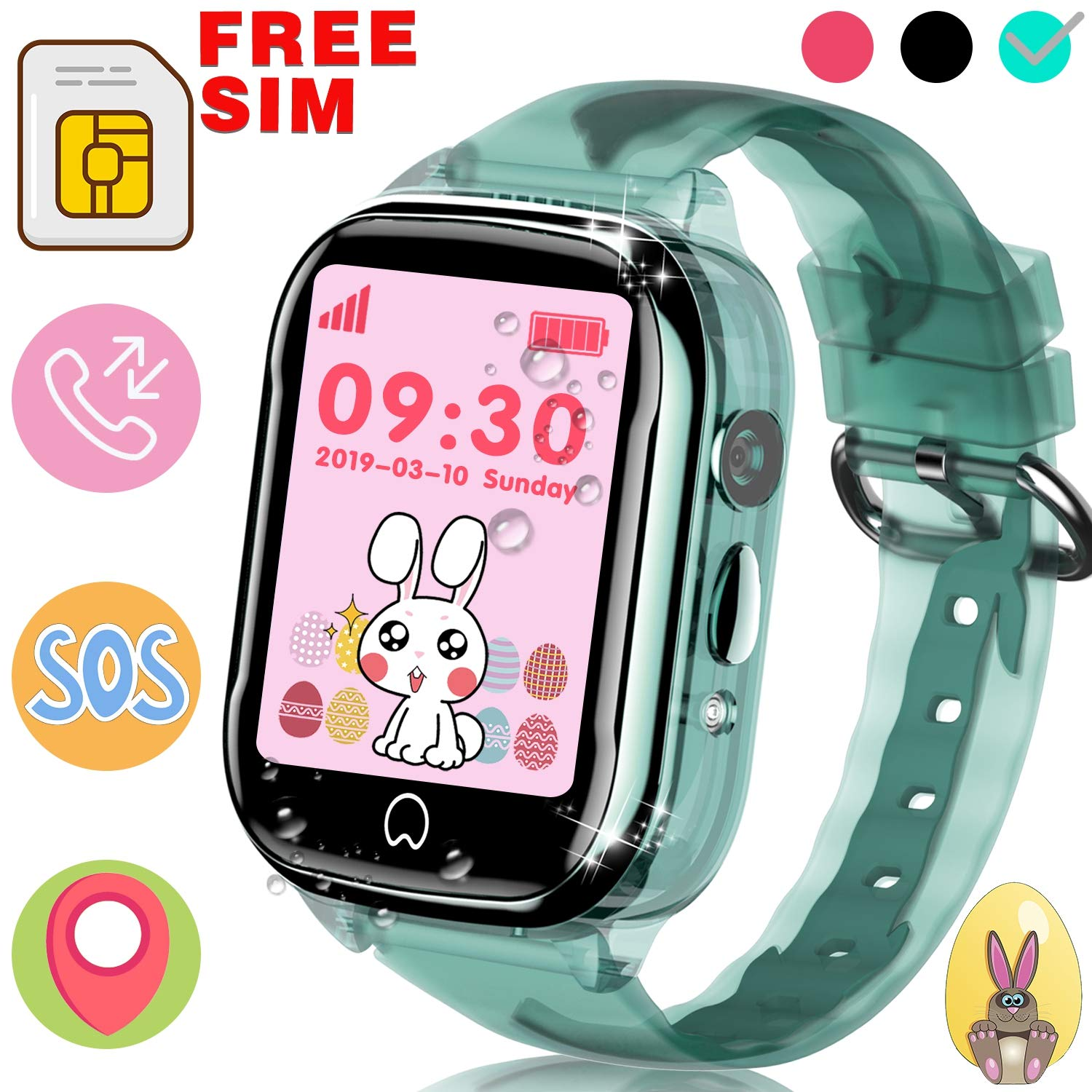 (4pink) - Kids Game Smart Watch - Digital Wrist Sport Smartwatch 3-12 Year Boys Girls with 3.8cm Touchscreen Camera Pedometer Alarm Outdoor Activity Fitness Tracker Holiday Learning Toy School Gift B07C7SR9ZG 4pink
