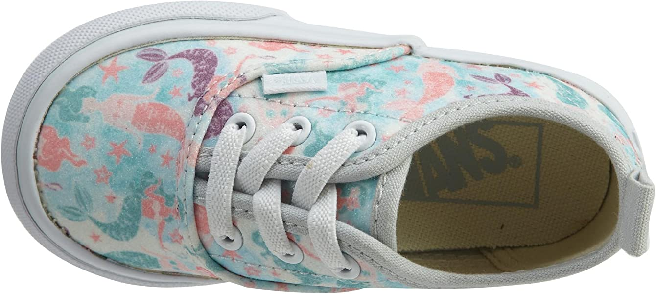 Vans Authentic Elastic Lace (Mermaid) Ice Flow Glitter Toddler Shoes ... d57a3a001