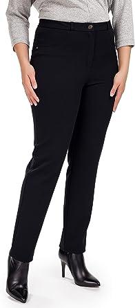Femme Pantalones Elegantes Para Mujer Tejido Muy Comodo Para Otono Invierno Primavera Oficina Y Ocio Azul 56 Amazon Es Ropa