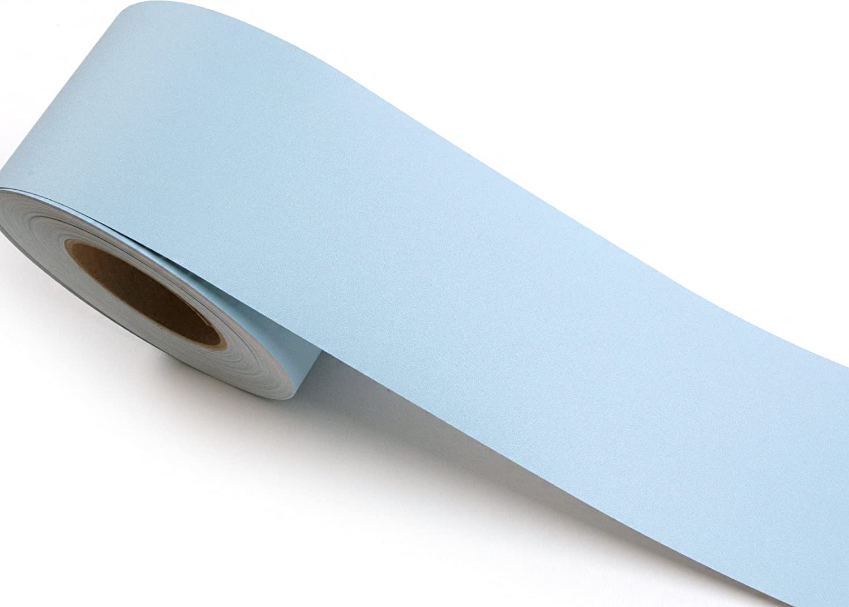 ROSEROSA Peel and Stick Decorative PVC Solid Instant Self-Adhesive Border Sticker Slate Blue SG51B : 3.93 inch X 16.40 feet