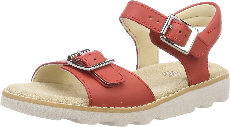 Clarks Children/'s Girls/' Crown Bloom Kid Ankle Strap Sandals