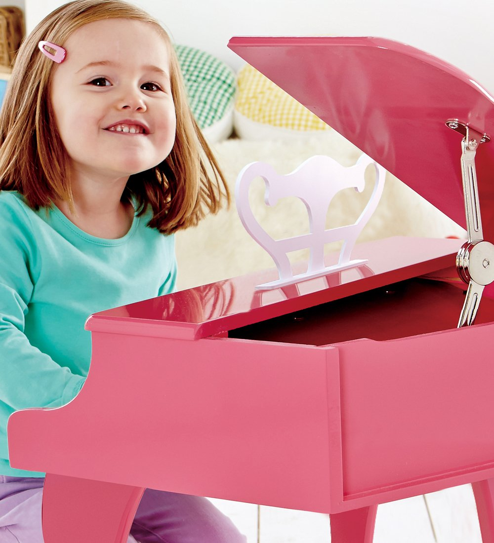 Hape Happy Grand Piano in Pink Toddler Wooden Musical Instrument by Hape (Image #8)