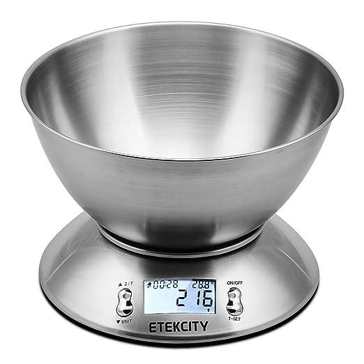 634 opinioni per Etekcity Bilancia da Cucina Elettronica in Acciaio Inossidabile 5kg/ 11lb,