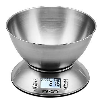 etekcity bilancia da cucina elettronica 5 kg in acciaio inox con ... - Bilancia Da Cucina Elettronica