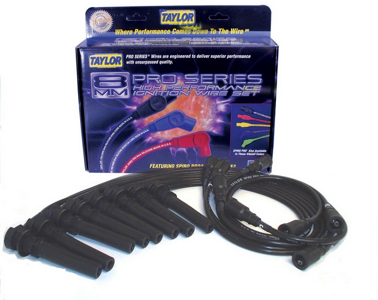 Taylor Cable 72026 8mm Spiro-Pro Spark Plug Wire Set