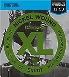 D'Addario EXL117 - Juego de cuerdas para guitarra eléctrica de níquel, 011' - 056'