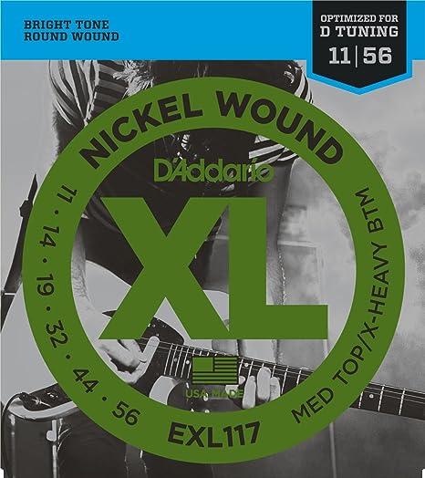 DAddario EXL117 Juego de Cuerdas, Plateado