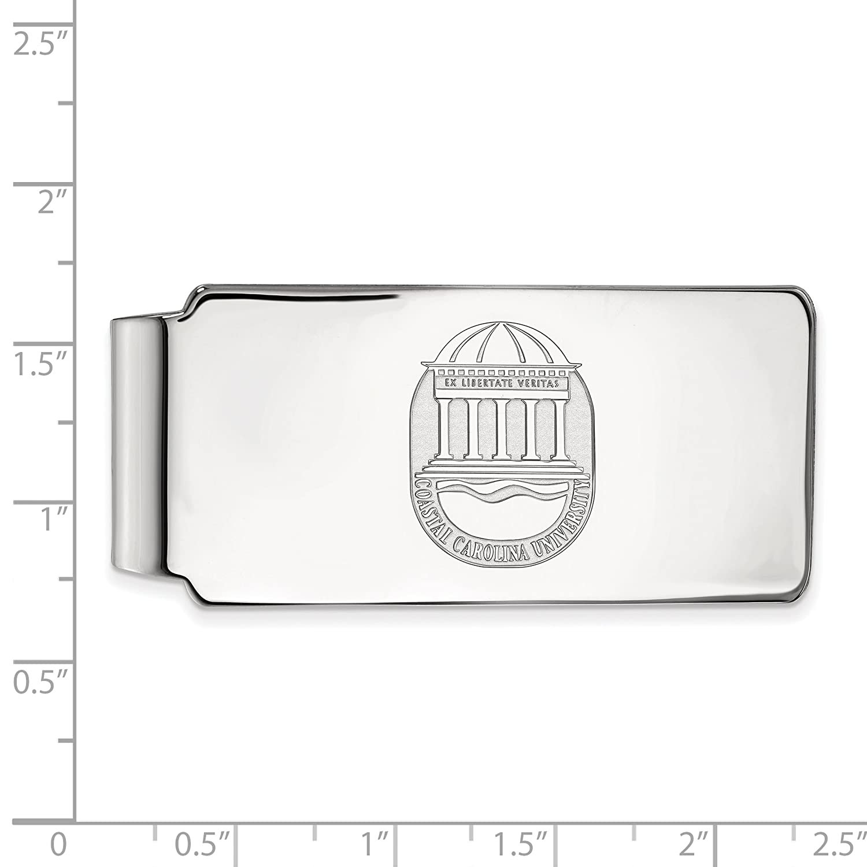 CCU 10k White Gold LogoArt Official Licensed Collegiate Coastal Carolina University Money Clip Crest