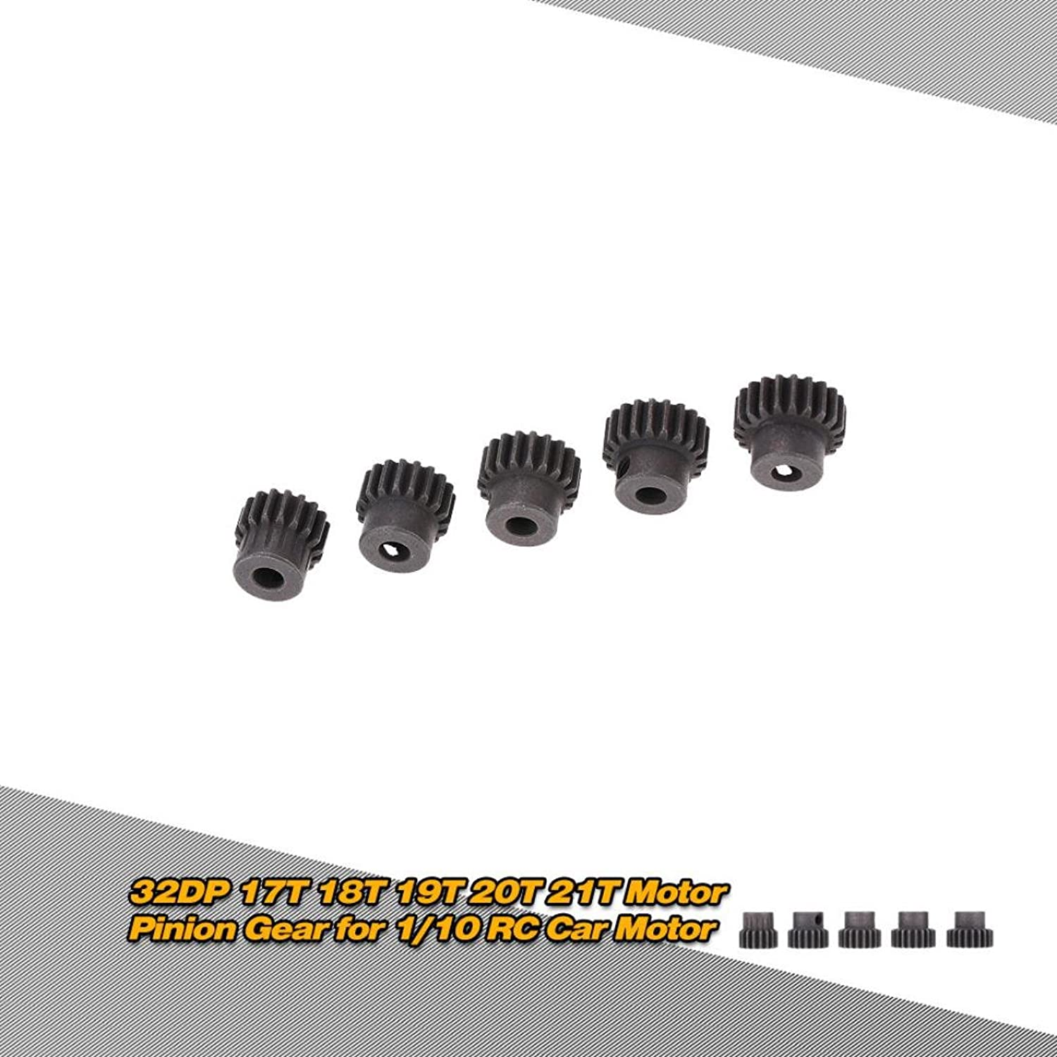 DZT1968 5pc/set GoolRC 5Pcs 32DP 5mm 17T 18T 19T 20T 21T Motor Pinion Gear for 1/10 RC Car Brushed Brushless Motor