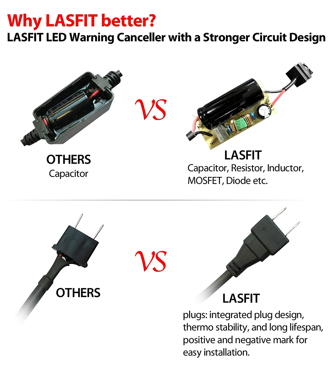 Lasfit Led Kit Computer Warning Canceller Anti Flicker Electronic Circuit Design Decoders 1 Pair H7 Automotive