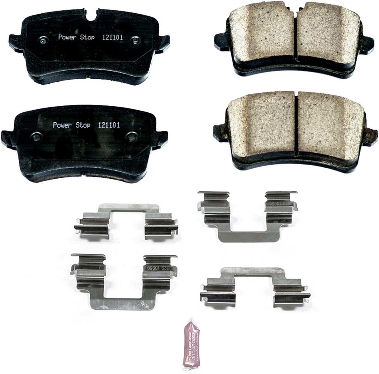 S7 A7 RS5 A8 S8 REAR RS7 Bosch BE1547H Blue Disc Brake Pad Set with Hardware for Select 2011-15 Audi A6 S6 SQ5; Porsche Macan
