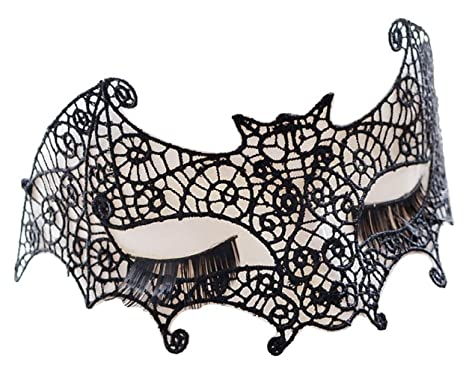 Lace bat Eyemask Venetian Masquerade Bal Halloween Fancy Dress Accessory