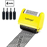 Lottogo Identity Theft Protection Roller Stamp Wide Kit,Anti Theft and Privacy Safety - Classy - Yellow