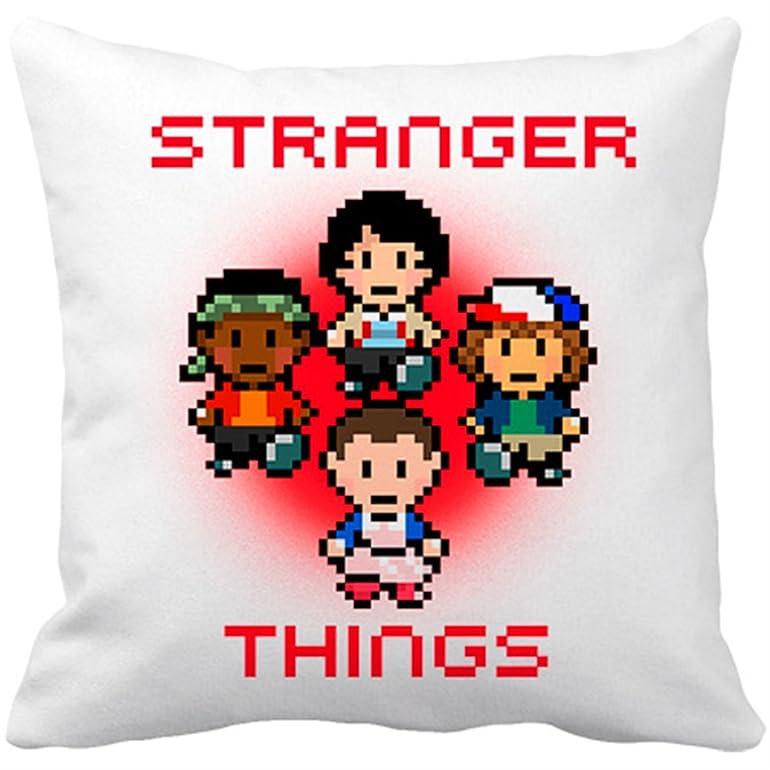 Cojín con relleno Stranger Things 8 Bits - Blanco, 35 x 35 cm