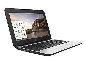 2017 HP Chromebook 11.6 inch Premium Flagship Laptop, Intel Celeron Core N2840 up to 2.58GHz, 4GB RAM, 16GB Flash SSD, 802.11ac WiFi, Bluetooth, Webcam, USB 3.0, Chrome OS (Renewed)