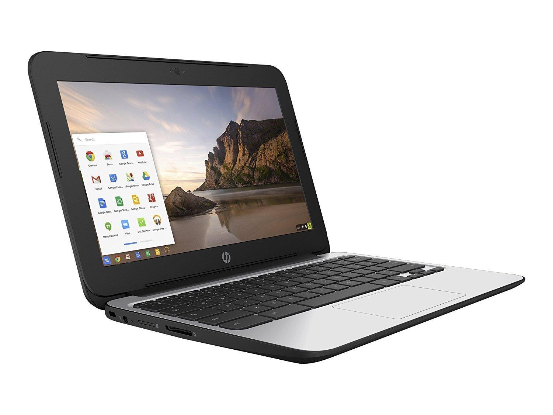 2017 HP Chromebook 11.6 inch Premium Flagship Laptop, Intel Celeron Core N2840 up to 2.58GHz, 4GB RAM, 16GB Flash SSD, 802.11ac WiFi, Bluetooth, Webcam, USB 3.0, Chrome OS (Certified Refurbished) by HP