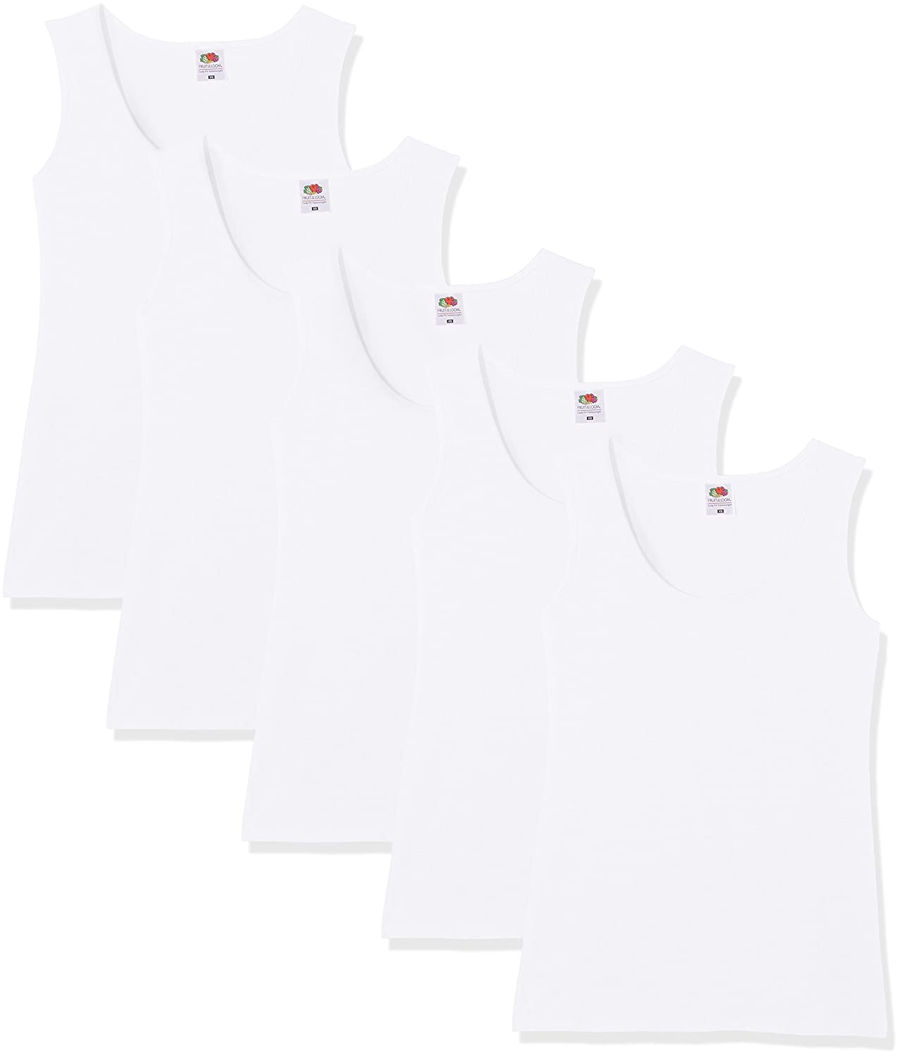 Fruit of the Loom Valueweight Camiseta (Pack de 5) para Mujer