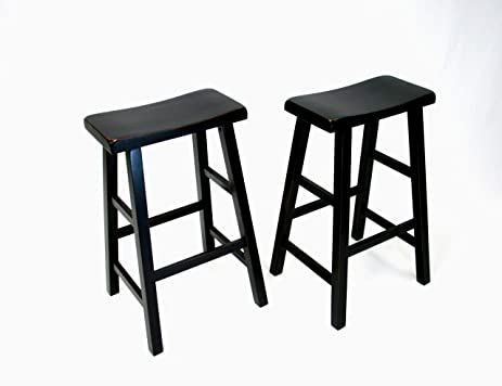 "Amazon eHemco 29"" Heavy Duty Saddle Seat Bar Stool in Antique"