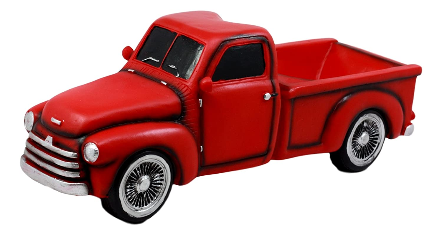 Amazon.com: Ebros Gift Red Vintage Old Fashioned Pickup Truck Wine ...