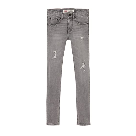 218716458 Levi's Kids NL22297_PANT 519 Boys Jeans, Grey (Gris Moyen), 12 Years