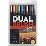 Tombow Dual Brush Pen Art Markers, Muted, 10-Pack