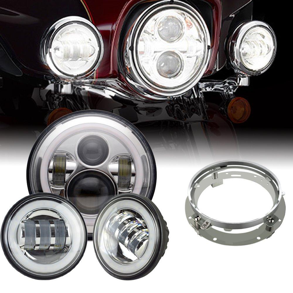 """7"""" LED Daymaker Headlight Passing Light For Harley"""