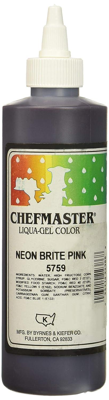 Chefmaster Liqua-Gel Food Color, 10.5-Ounce, Neon Brite Pink
